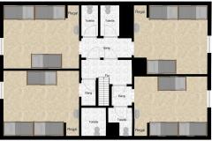 Schlafhaus Obergeschoss