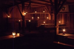 Taverne bei Kerzenlicht